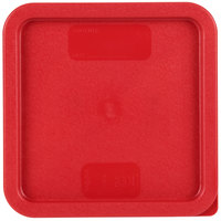Carlisle 1074105 StorPlus Red Polyethylene Lid for 6 and 8 Qt. Square StorPlus Containers