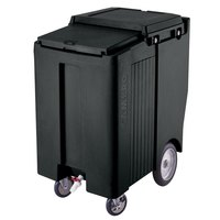 Cambro ICS200TB110 SlidingLid Black Portable Ice Bin - 200 lb. Capacity Tall Model