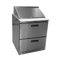 Delfield UCD4427N-12M 27 inch 2 Drawer Mega Top Reduced Height Refrigerated Sandwich Prep Table