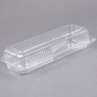 Durable Packaging PXT-350 Duralock 12 inch x 5 inch x 3 inch Clear Hinged Lid Plastic Container   - 250/Case