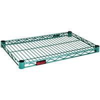 Eagle Group QA1424E Quad-Adjust® Eaglegard® NSF Hybrid Zinc / Green Epoxy 14 inch x 24 inch Wire Shelf