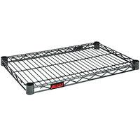 Eagle Group QA1424V Quad-Adjust® Valu-Master® NSF Gray Epoxy 14 inch x 24 inch Wire Shelf