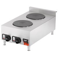 Vollrath 40739 Cayenne 2 Burner Counter Top Electric Hot Plate - 208/240V