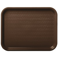 Carlisle CT101469 Cafe 10 inch x 14 inch Chocolate Standard Plastic Fast Food Tray