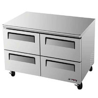 Turbo Air TUR-48SD-D4 48 inch Super Deluxe Four Drawer Undercounter Refrigerator - 12 Cu. Ft.