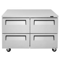 Turbo Air TUR-48SD-D4 Super Deluxe 48 inch Undercounter Refrigerator with Four Drawers