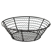 American Metalcraft WSB82 8 inch Wavy Sided Mesh Bottom Basket
