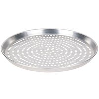 American Metalcraft SPHADEP14 14 inch x 1 inch Super Perforated Heavy Weight Aluminum Tapered / Nesting Deep Dish Pizza Pan