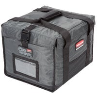 Food delivery bag with heavy stitching