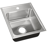 Just Manufacturing SL-2017-A-1 1 Compartment Stainless Steel Drop-In Sink Bowl - 14 inch x 14 inch x 7 1/2 inch