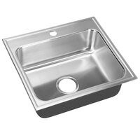 Just Manufacturing SL-1921-A-1 1 Compartment Stainless Steel Drop-In Sink Bowl - 18 inch x 14 inch x 7 1/2 inch