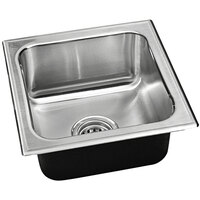 Just Manufacturing S-1313-A 1 Compartment Stainless Steel Drop-In Sink Bowl - 10 inch x 10 inch x 7 1/2 inch