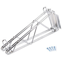 Advance Tabco DB-14 14 inch Deep Double Wall Mounting Bracket for Adjoining Chrome Wire Shelves