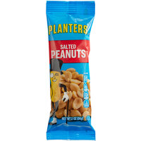 Planters 0.125 lb. Individual Bags of Roasted & Salted Peanuts - 144/Case