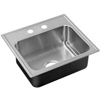 Just Manufacturing SL-2225-A-2 1 Compartment Stainless Steel Drop-In Sink Bowl - 22 inch x 16 inch x 8 inch