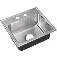 Just Manufacturing SL-17519-A-2 1 Compartment Stainless Steel Drop-In Sink Bowl - 16 inch x 11 1/2 inch x 7 1/2 inch