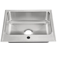 Just Manufacturing SL-2125-A-1 1 Compartment Stainless Steel Drop-In Sink Bowl - 22 inch x 16 inch x 8 inch