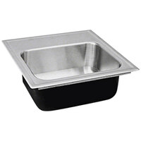 Just Manufacturing SL-ADA-1815-A-355DCR 1 Compartment Stainless Steel ADA Drop-In Sink Bowl with Rear Center Drain - 12 inch x 12 inch x 5 1/2 inch