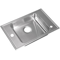 Just Manufacturing CRA-ADA-1725-A-1165DCR 1 Compartment Stainless Steel ADA Classroom Drop-In Sink Bowl with Rear Center Drain - 16 inch x 14 inch x 6 1/2 inch