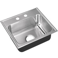 Just Manufacturing SL-1617-A-2 1 Compartment Stainless Steel Drop-In Sink Bowl - 14 inch x 10 inch x 7 1/2 inch