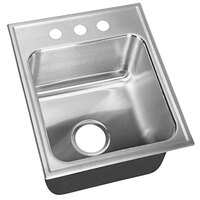 Just Manufacturing SLX-2217-A-3 1 Compartment Stainless Steel Drop-In Sink Bowl - 14 inch x 16 inch x 10 1/2 inch