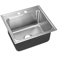 Just Manufacturing SLX-1921-A-2 1 Compartment Stainless Steel Drop-In Sink Bowl - 18 inch x 14 inch x 10 1/2 inch
