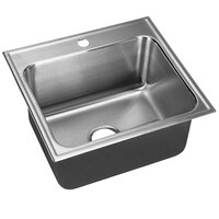 Just Manufacturing SLX-2225-A-1 1 Compartment Stainless Steel Drop-In Sink Bowl - 22 inch x 16 inch x 10 1/2 inch