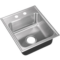 Just Manufacturing SL-1815-A-2 1 Compartment Stainless Steel Drop-In Sink Bowl - 12 inch x 12 inch x 7 1/2 inch