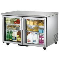 True TUC-48G-HC-LD 48 inch Glass Door Undercounter Refrigerator