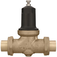 Zurn 114-NR3XLDUC 1 1/4 inch Double Union Copper Sweat Connection Water Pressure Reducing Valve with Integral By-Pass Check Valve and Strainer