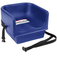 Cambro 100BCS186 Navy Blue Plastic Booster Seat - Single Seat with Strap