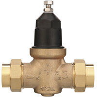 Zurn 1-NR3XLDU 1 inch Double Union Water Pressure Reducing Valve with Integral By-Pass Check Valve and Strainer