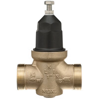 Zurn 114-NR3XL 1 1/4 inch Single Union Water Pressure Reducing Valve with Integral By-Pass Check Valve and Strainer