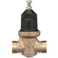 Zurn 34-NR3XLDUC 3/4 inch Double Union Copper Sweat Connection Water Pressure Reducing Valve with Integral By-Pass Check Valve and Strainer
