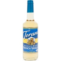 Torani 750 mL Sugar Free French Vanilla Flavoring Syrup