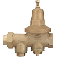 Zurn 1-600XLC 1 inch Copper Sweat Connection Water Pressure Reducing Valve with Integral By-Pass Check Valve and Strainer