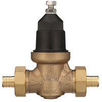 Zurn 34-NR3XLDUPEX 3/4 inch Double Union Water Pressure Reducing Valve with Integral By-Pass Check Valve, Strainer, and Male Barbed Connection Tailpiece