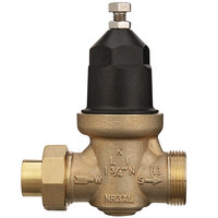 Zurn 34-NR3XLC 3/4 inch Copper Sweat Union Connection Water Pressure Reducing Valve with Integral By-Pass Check Valve and Strainer