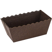 Novacart N9J025231 Easybake 4 oz. Brown Mini Loaf Mold - 500/Case