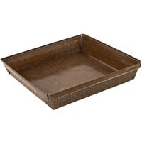 Novacart G9F10099 PM 155 15 oz. Brown Square Paper Loaf Mold   - 720/Case