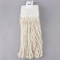 Continental Wilen A401016 16 oz. Cut End Natural Cotton Mop Head with 5 inch Band
