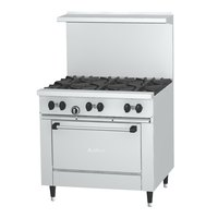Garland SunFire Series X36-6R Liquid Propane 6 Burner 36 inch Gas Range with Standard Oven - 213,000 BTU