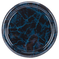 Sabert 812 12 inch Black Marble Round Catering Tray - 6/Pack