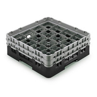 Cambro 16S958110 Camrack Customizable 10 1/8 inch High Customizable Black 16 Compartment Glass Rack