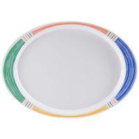 GET OP-145-BA 14 3/4 inch x 10 1/2 inch Diamond Barcelona Oval Platter - 12/Case
