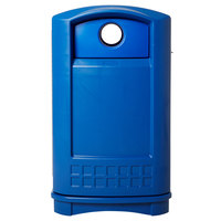 Rubbermaid FG396873BLUE Plaza Bottle and Can Recycling Container - Blue