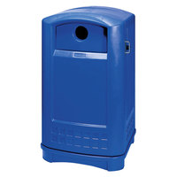 Rubbermaid 396873 Plaza Bottle and Can Recycling Container - Blue (FG396873BLUE)