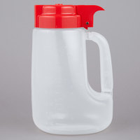 Tablecraft PP32R Option 32 oz. Dispenser Jar with Red Top