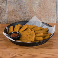GET RB-891 12 inch Black Round Plastic Fast Food Basket - 12/Pack