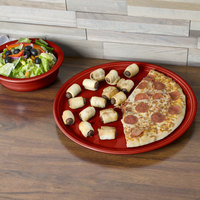 Homer Laughlin 505326 Fiesta Scarlet 15 inch China Pizza / Baking Tray - 4/Case